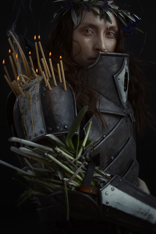 Jeanne d'Arc en armure de guerrière