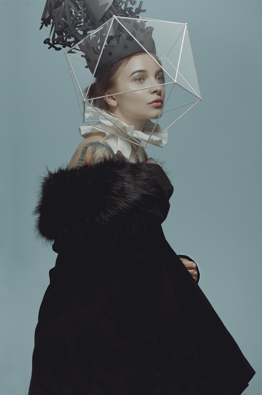 princesse pâle et iconique oeuvre de Alexander Berdin Lazursky