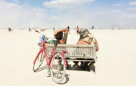 People watching People- Burning Man