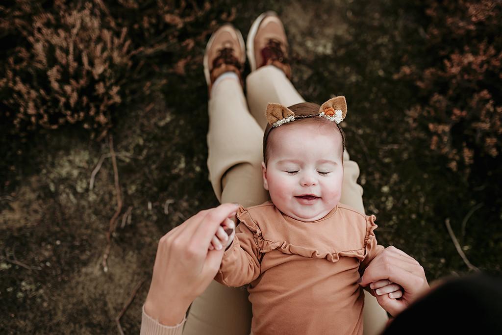 Baby fotoshoot buiten Made