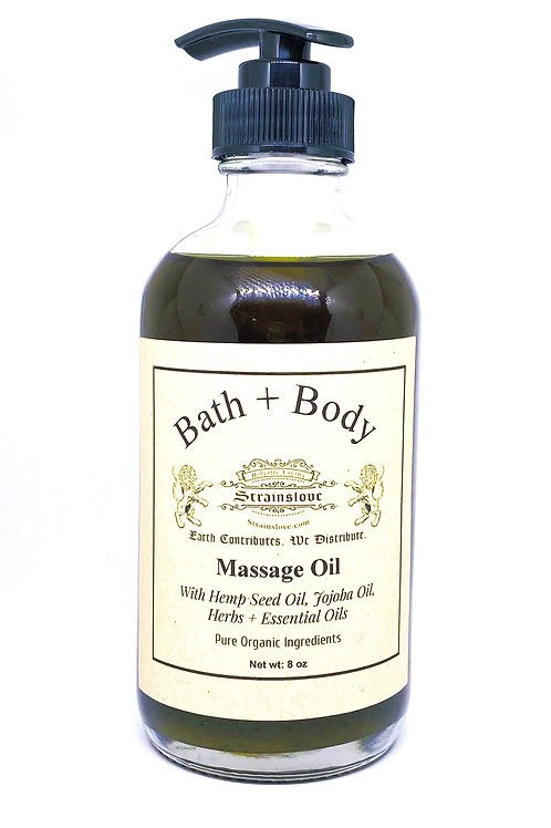 Bath + Body Massage Oil, 8 oz