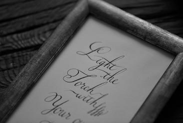 Calligraphy-Copperplate script