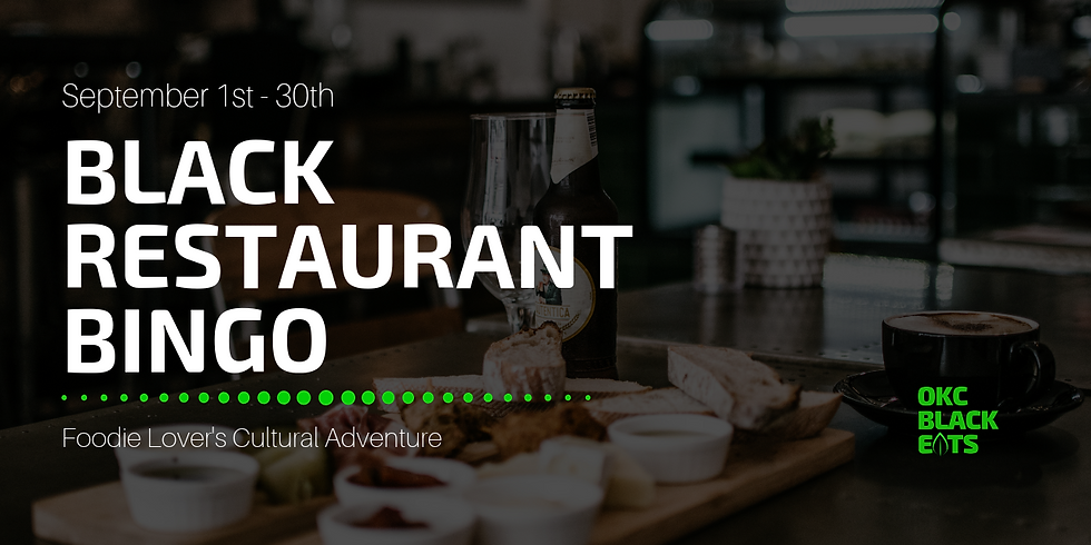 OKC Black Restaurant Bingo - Fall 2019