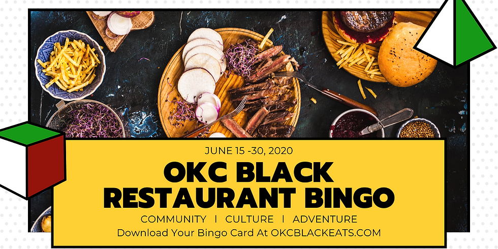 OKC Black Restaurant Bingo - Juneteenth 2k20