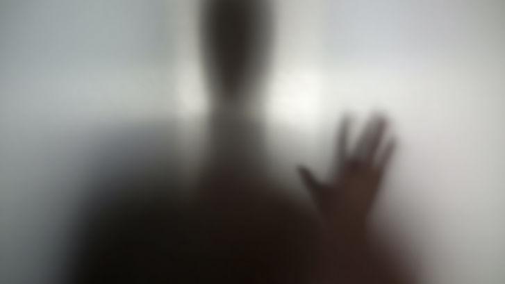 Man needs help, drug addiction, silhouet