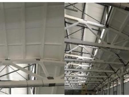 Реконструкция крыши промышленного объекта
