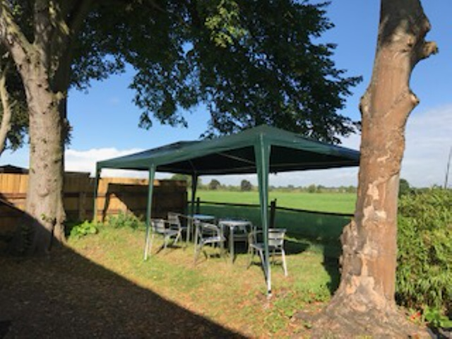 Gazebo for guest use