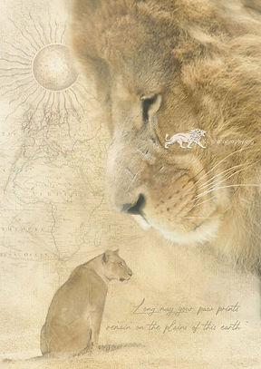 Heart of a Lion- A3 digital artwork Giclee print