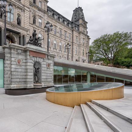 Pavillon d'accueil de l'Assemblée nationale de Québec | Extérieur