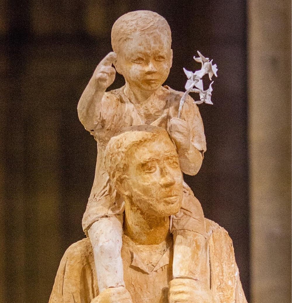 Saint Joseph de la marche (statue bénie le 2 décembre 2018 par Monseigneur Rey, lors de l'ouverture du jubilé pour le 500° anniversaire des apparitions à Notre-Dame de Grâce)