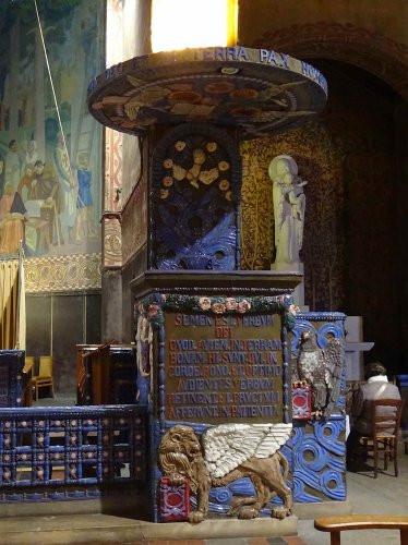 Chaire à prêcher - Céramique - Vincennes, église Saint-Louis