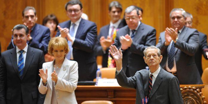 Discours de Michel Ier de Roumanie devant les deux Chambres réunies du Parlement