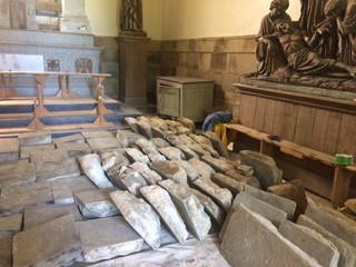 Chantier de restauration de la chapelle du Champ des Martyrs à Brec'h
