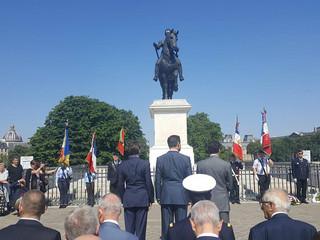 Monseigneur le Prince Louis de Bourbon, Duc d'Anjou, au Bicentenaire du rétablissement de la statue
