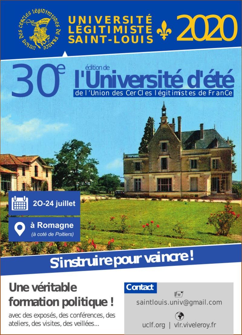 Université Saint Louis 2020