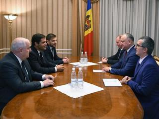 Audience de Monseigneur le Duc d'Anjou avec Igor Dodon, président de la République de Moldavie