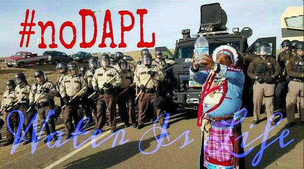 Dan Nanamkin - front line Standing Rock.