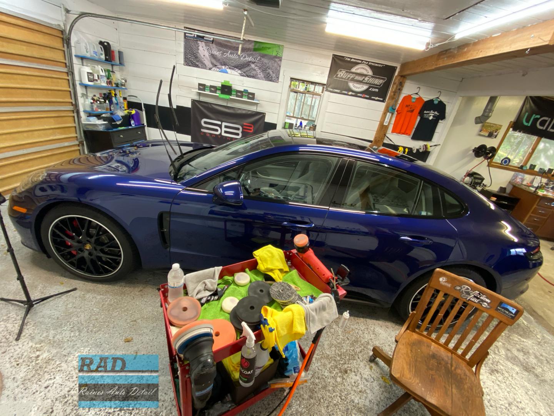 Porsche being polished