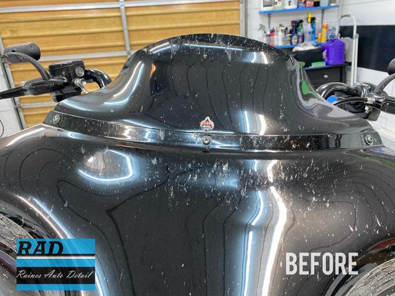 Harley Davidson Before Polishing