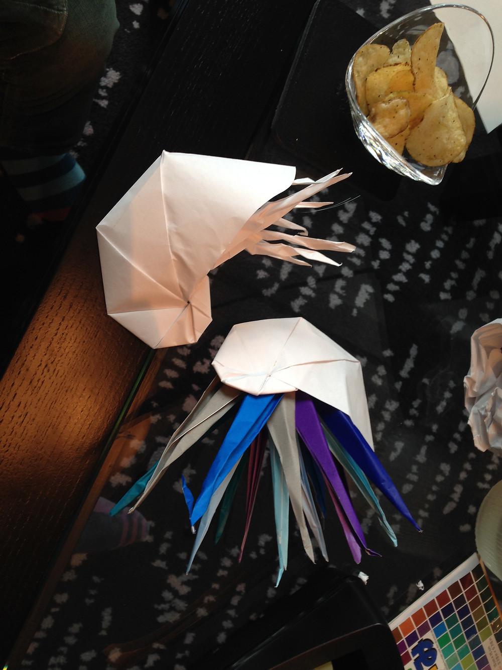 chmabered nautilus origami