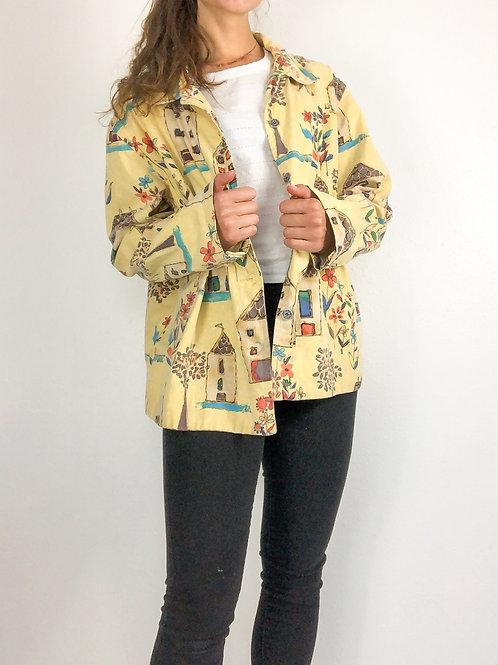 Yellow chore coat-XL