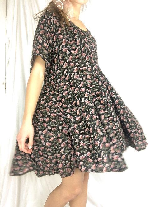 Vintage floral swing dress-medium