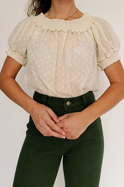 Off shoulder blouse-Medium