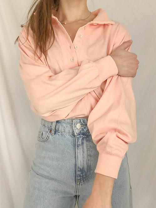 Vintage peach long sleeve - Medium