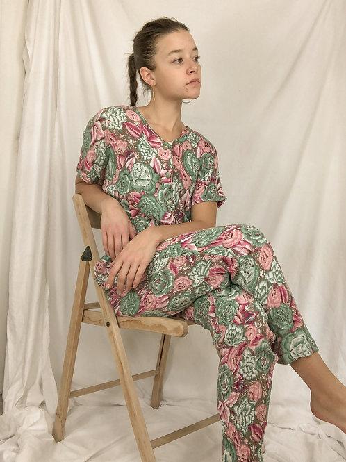 Floral jumpsuit-Medium