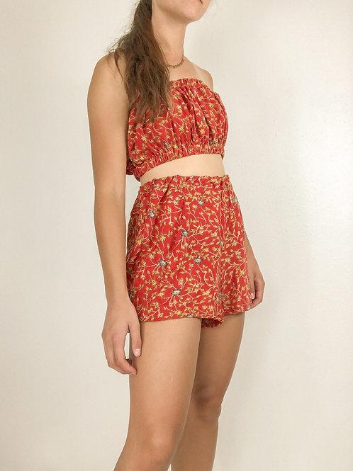 Red floral set-medium