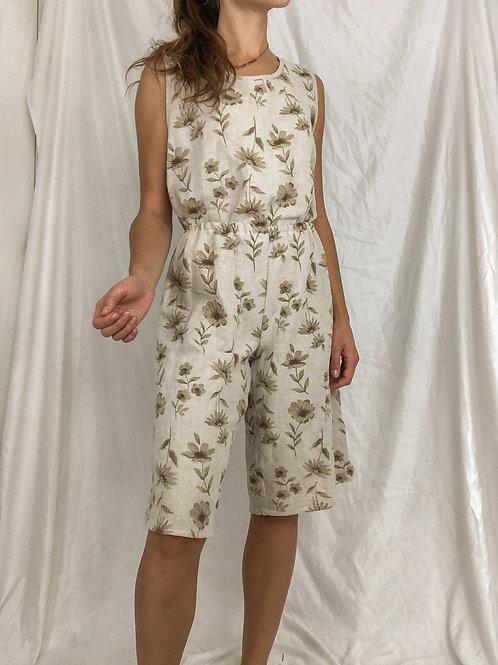 Linen floral set-one size