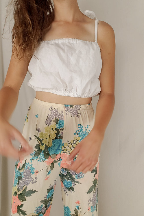 White bandeau top-One size