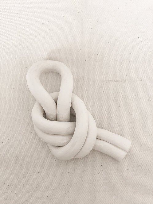 Clay knot home decor