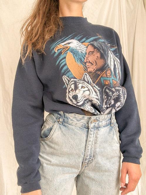 Wolf sweatshirt-large