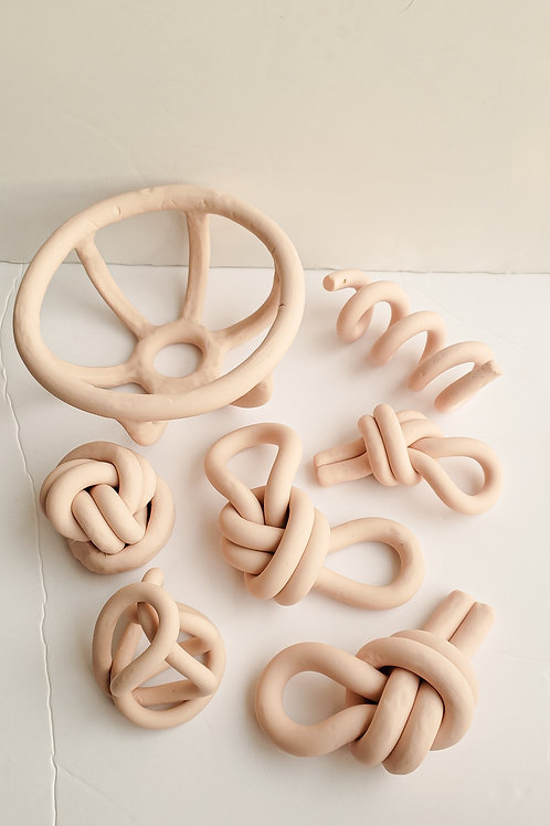 Clay squiggles