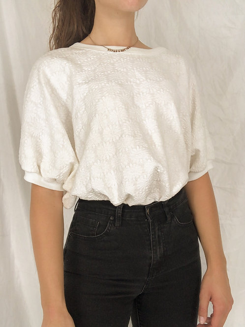 Textured daisy top-Large