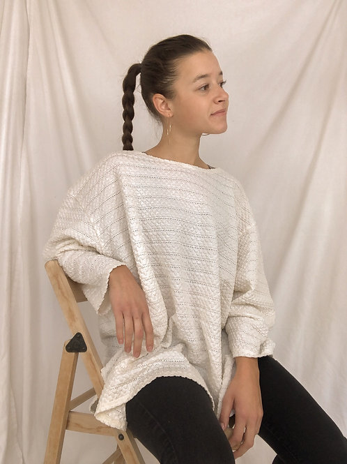 Textured long sleeve-one size