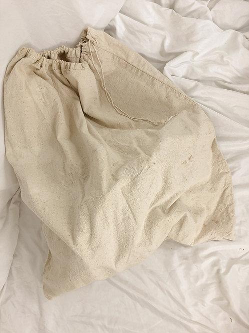 Vintage drawstring laundry tote
