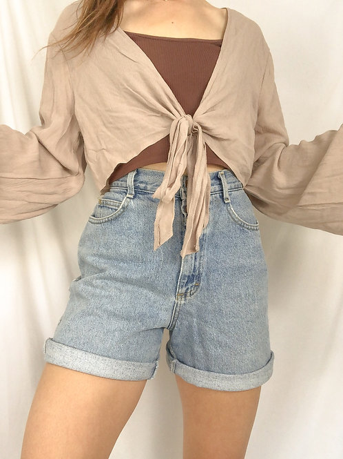 Vintage lee high waisted shorts-medium
