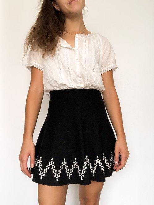 Black knit Skirt-Small