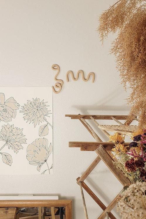Minimal ceramic wave home decor