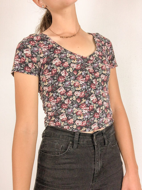 Cinched Foral tee-small