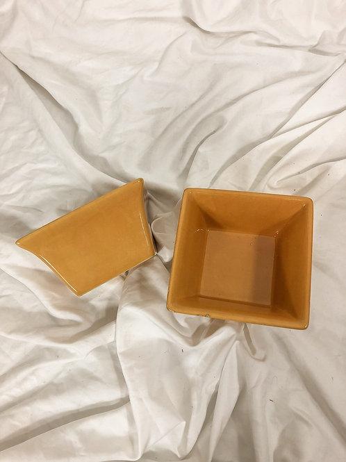 Yellow bowls-set of 2