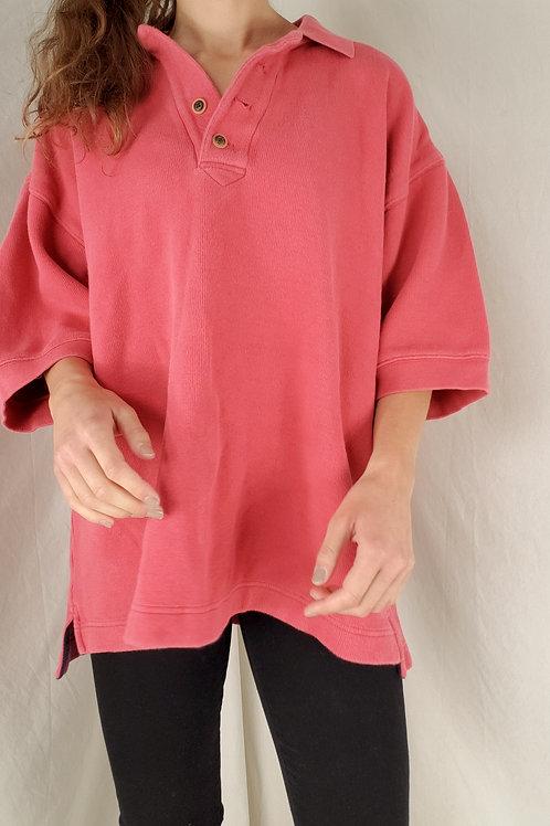 Pink polo-XL