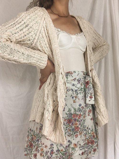 Cable knit sweater-Small