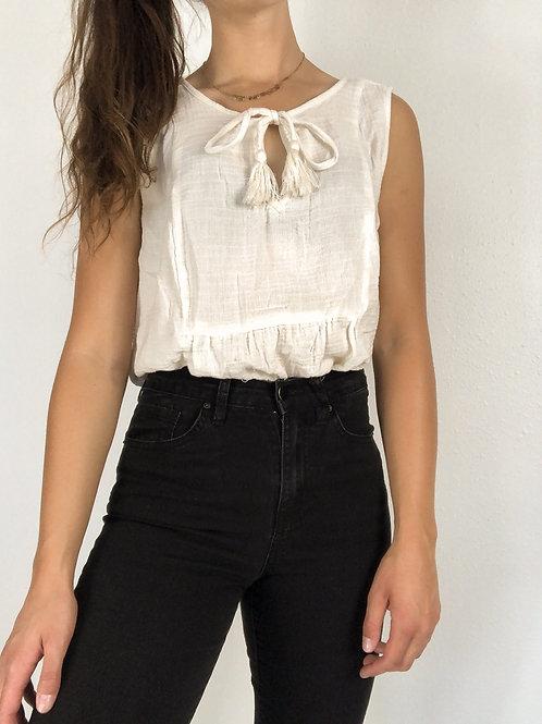 Gauze blouse-XL