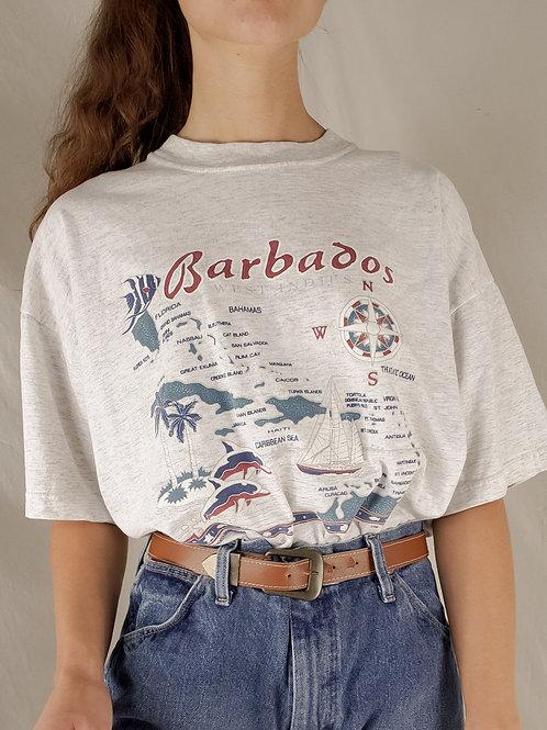 Vintage Barbados tee-Large