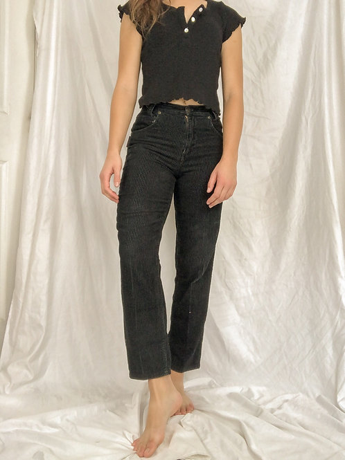 Black corduroy pants-small