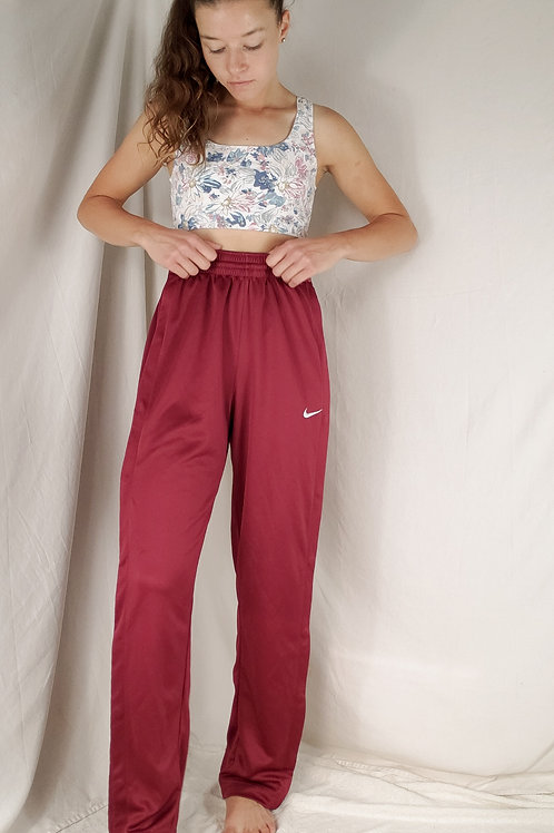 Red nike snap pants-Small
