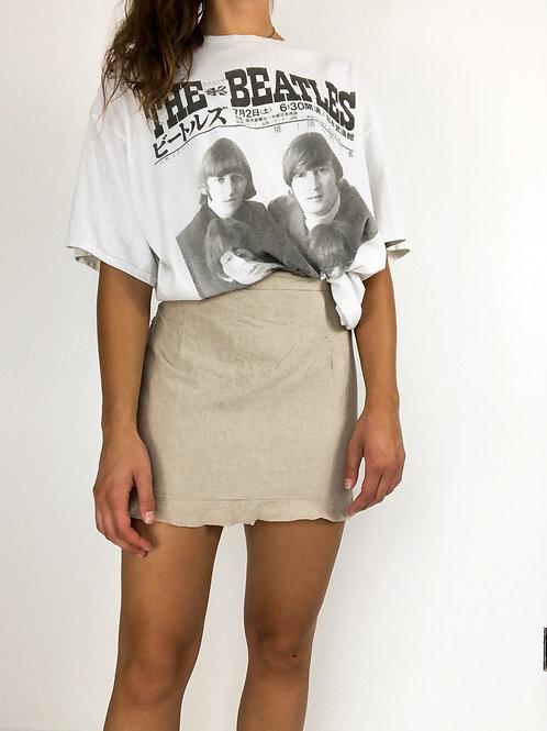Linen high waisted skirt-small